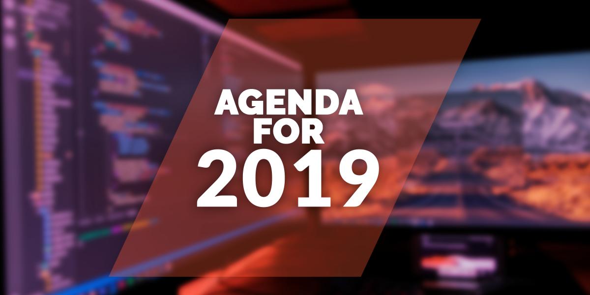 My agenda for 2019